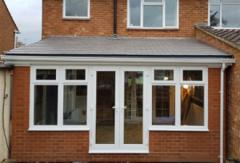 Lean to solid Roof Conservatory with frames