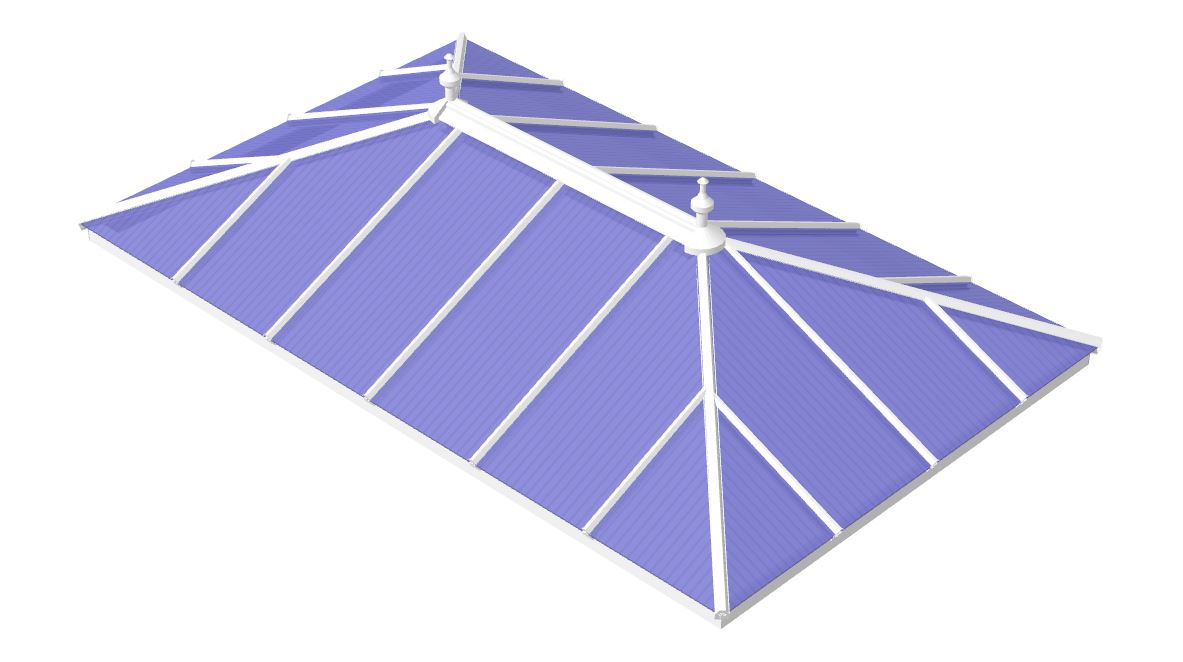 Glass Edwardian double hipped  Roof