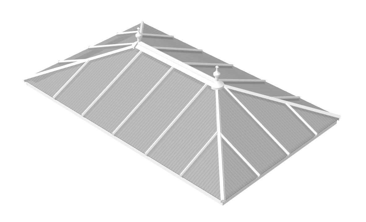 Polycarbonate edwardian double hipped Roof