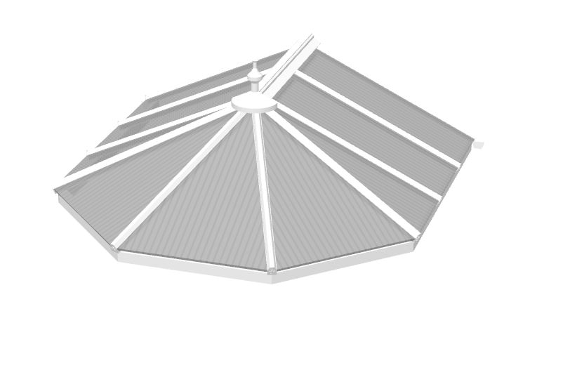 Polycarbonate Victorian Roof
