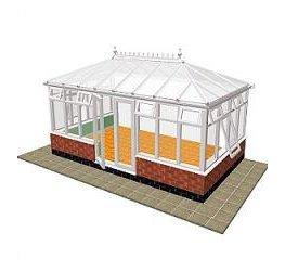 edwardian double hipped conservatory