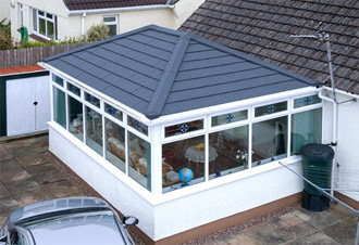 EDWARDIAN HIPPED BACK SOLID ROOF CONSERVATORY