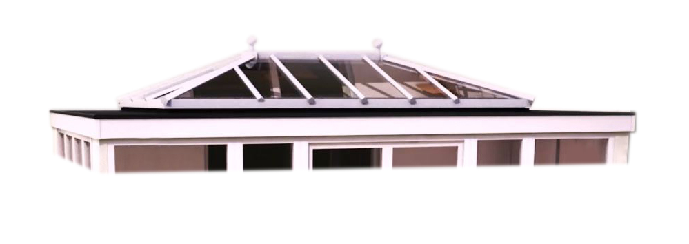 Replacement Solid flat orangery roof