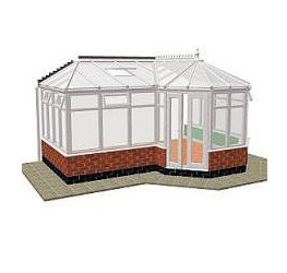 P-Shaped Victorian Conservatory