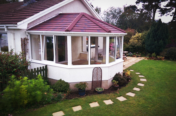 VICTORIAN SOLID ROOF CONSERVATORY WITH FRAMES