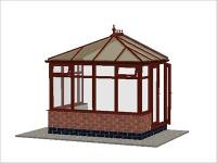 DIY Conservatories, Conservatory Design and Dwarf Wall 2954 X 2242 Rosewood (E1D)