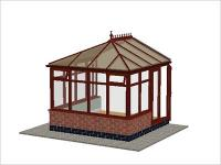 DIY Conservatories, Conservatory Design and Dwarf Wall 2954 X 2985 Rosewood (E2D)