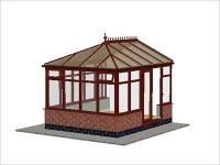 DIY Conservatories, Conservatory Design and Dwarf Wall 2954 X 3728 Rosewood (E3D)