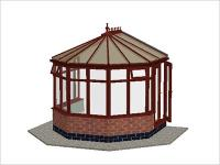 DIY Conservatories, Conservatory Design and Dwarf Wall 3070 X 2823 Rosewood (V1D)