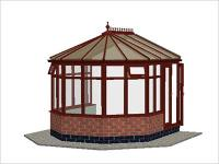 DIY Conservatories, Conservatory Design and Dwarf Wall 3070 X 3456  Rosewood (V2D)