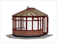 DIY Conservatories, Conservatory Design and Dwarf Wall 3240 X 3646  Rosewood (V3D)