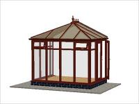 DIY Conservatories, Conservatory Design and Full Height 2954 X 2242 Rosewood (E1F)