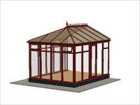 DIY Conservatories, Conservatory Design and Full Height 2954 X 3728 Rosewood (E3F)