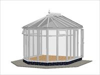 DIY Conservatories, Conservatory Design and Full Height 3070 X 3456 White (V2F)