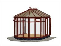 DIY Conservatories, Conservatory Design and Full Height 3070 X 3456 Rosewood (V2F)