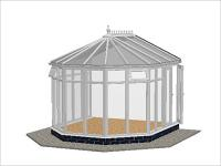 DIY Conservatories, Conservatory Design and Full Height 3240 X 3646 White (V3F)
