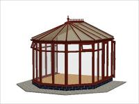 DIY Conservatories, Conservatory Design and Full Height 3240 X 3646 Rosewood (V3F)