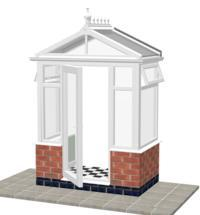 DIY Conservatories, Conservatory Design and Model 1DW Pavilion Porch 1950mm wide x 1100mm
