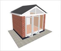 DIY Conservatories, Conservatory Design and Gable type 1 3350 x 3000mm