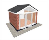 DIY Conservatories, Conservatory Design and Gable type 2 3850 x 3500mm
