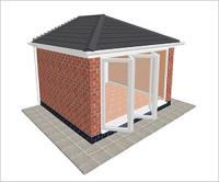 DIY Conservatories, Conservatory Design and Edwardian type 2 3850 x 3500mm