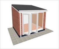 DIY Conservatories, Conservatory Design and Lean to type 1 3350  x 3000mm