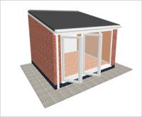 DIY Conservatories, Conservatory Design and Lean to type 2 3850 x 3500mm