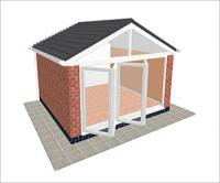 DIY Conservatories, Conservatory Design and Gable type 3 4250 x 4000mm