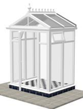 DIY Conservatories, Conservatory Design and Model 2FH Pavilion 1950mm wide x 1500mm