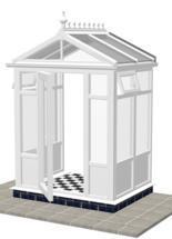 DIY Conservatories, Conservatory Design and Model 2FP Pavilion 1950mm wide x 1100mm