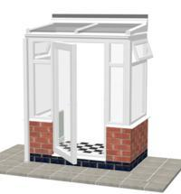 DIY Conservatories, Conservatory Design and Model DW1 lean to porch 1950mm wide x 1100mm