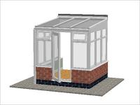 DIY Conservatories, Conservatory Design and Dwarf Wall 2211 X 2242 White (T1D)