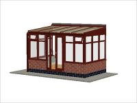 DIY Conservatories, Conservatory Design and Dwarf Wall 3697X 2242 Rosewood (T3D)