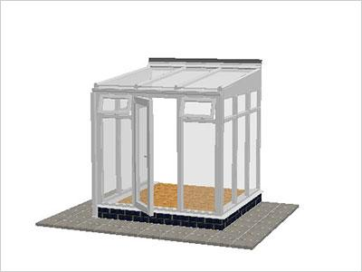 DIY Conservatories, Conservatory Design and Full Height 2211 X 2242 White (T1F)