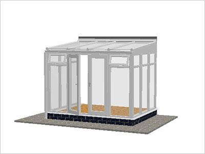 DIY Conservatories, Conservatory Design and Full Height 2954 X 2242 White (T2F)