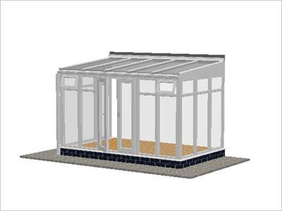 DIY Conservatories, Conservatory Design and Full Height 3697 X 2242 White (T3F)