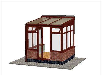 DIY Conservatories, Conservatory Design and Dwarf Wall 2211 X 2242 Rosewood (T1D)