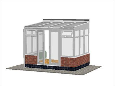 DIY Conservatories, Conservatory Design and Dwarf Wall 2954X 2242 White (T2D)