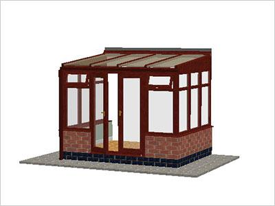 DIY Conservatories, Conservatory Design and Dwarf Wall 2954X 2242 Rosewood (T2D)