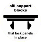 K2 Adventages 3 sill support blocks