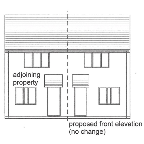 existing front elevation image