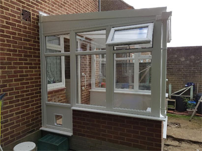glass roof conservatory bungalow