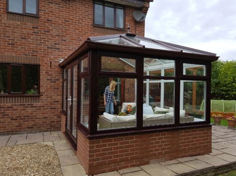 rosewood on white diy conservatory