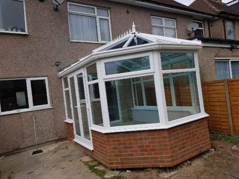 victorian durabase conservatory with adjustable legs